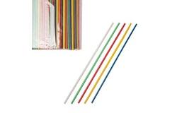 Трубочки без сгиба 24 см, d=0,3см, 1000 шт в уп, разноцветные